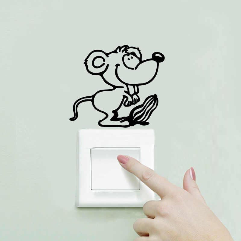 Del mouse del fumetto di arachidi decorazione della casa stickers autoadesivi dell'interruttore della parete della decorazione della parete stickers adesivi autoadesivi del computer materiale in polietilene J27