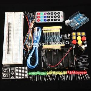 Kit de Inicio con envío gratis con tablero R3 CH340 + Placa de pruebas de 830 agujeros para arduino