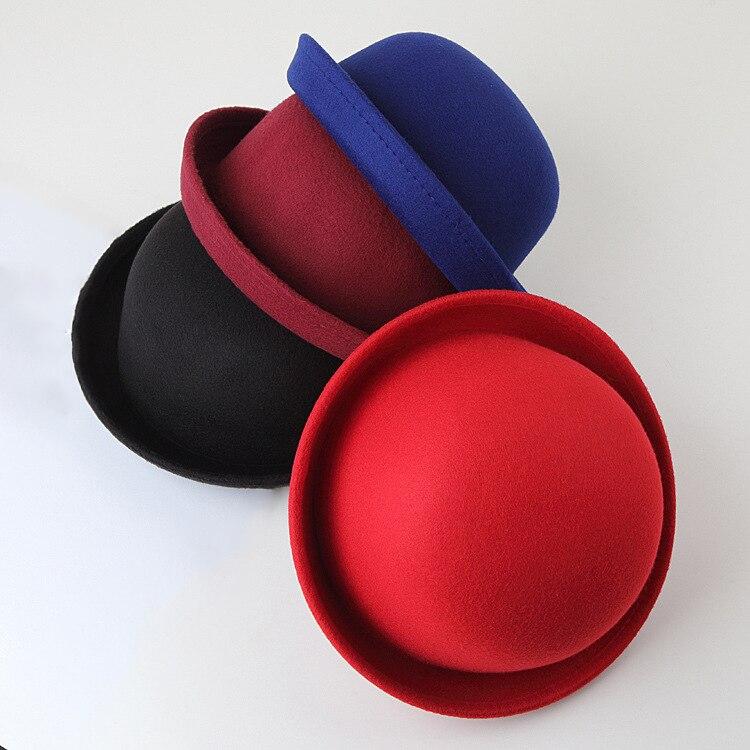 2019 Women's Fedoras Hats Fall Winter Fashion Warm Wool Felt  Retro Vintage Animal Cap Not Deformed Fedoras Caps For Women