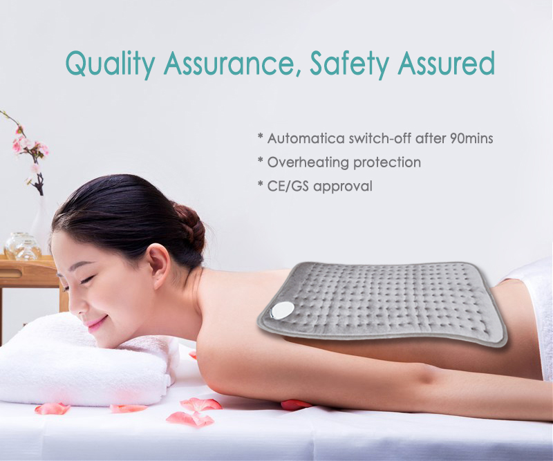 Bellavie 30*40cm 220V -240V 100W Super Cosy Fleece Electric Heating Pad Stomach Waist Back Pain Heat Therapy Body Warmer EU Plug