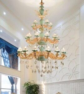 Image 3 - Modern Chandelier Lustre Crystal Chandeliers Kitchen Lamp LED Lighting Dining Room Crystal lights Living room chandeliers hotel