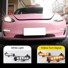 Voiture Clignotant 1 Set Pour Tesla Modèle 3 2017 2018 2019 2020 2021 Voiture DRL Lumières LED Jour Brouillard lampe clignotant