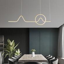 Modern simple golden black bar restaurant chandelier creative personality lamp luxury clothing store window led light