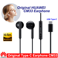 Оригинальные наушники Huawei clasi, наушники CM33 типа C с микрофоном и регулятором громкости для Mate 10 Pro P20 Por P30 P30 Pro XIAOMI MI 9 MIX2