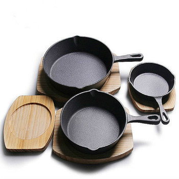 Non-Stick Skillet Frying Pan Cast Iron Pan Pancake Pan Gas Stove Wok Pan Home Garden Cast Iron Cauldron Egg Pan 16cm 20cm 26cm