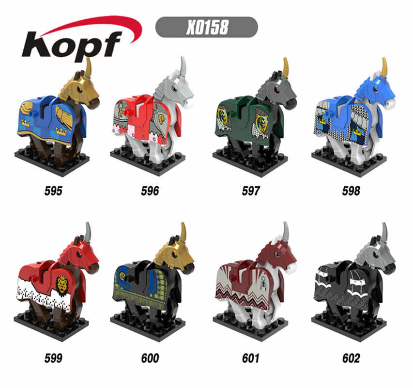 Kopf Top Brand Mitos Unicorn Lord Of The Rings Hobbit Kuda Nazgul dengan Gamis Bata Bangunan Blok Anak Hadiah mainan X0158