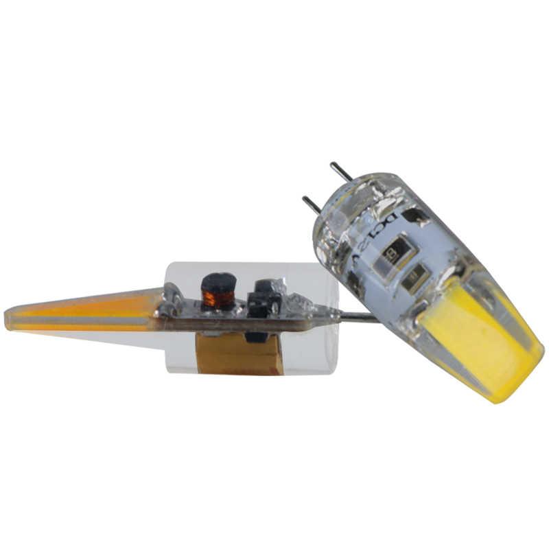 G4 12 в 24 В Светодиодная лампа COB Ac Dc 12 24 вольт диммер 1,5 Вт Супер 360 градусов фары для замены галогенный прожектор люстра лампа