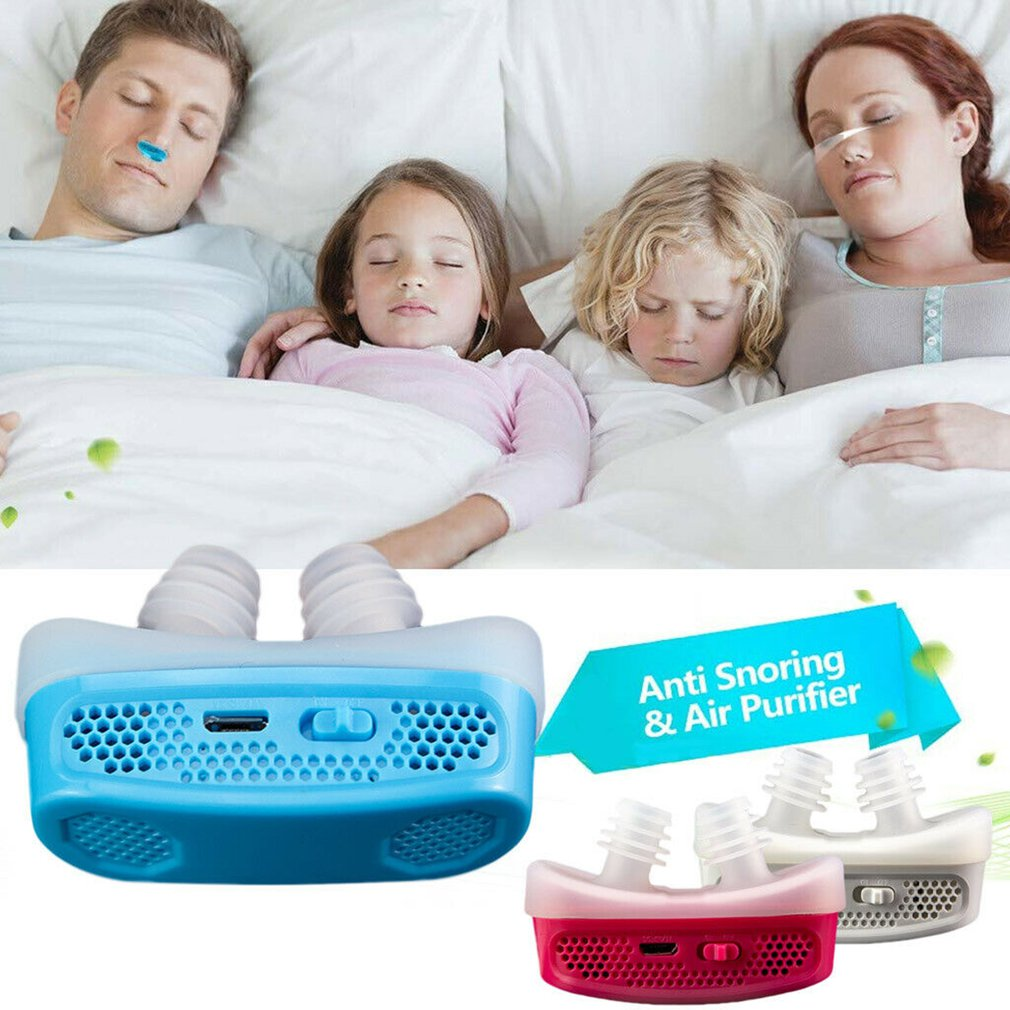 HOT Micro CPAP Anti Snoring Electronic Device For Sleep Apnea Stop Snore Aid Stopper 2019 NEW SELLING
