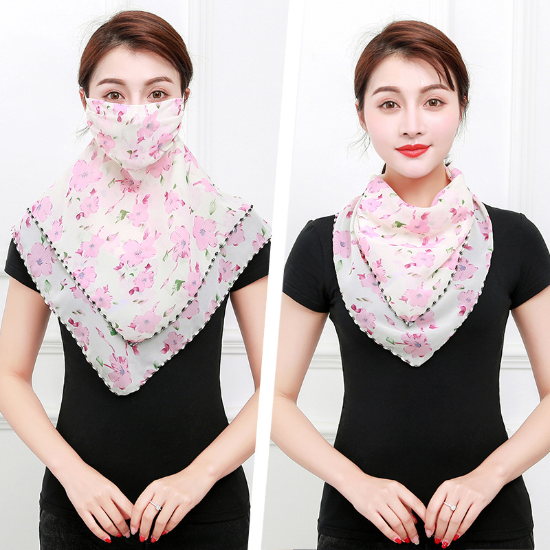 New Chiffon Face Cover Scarf For Women Sun Protection And Hiking Riding