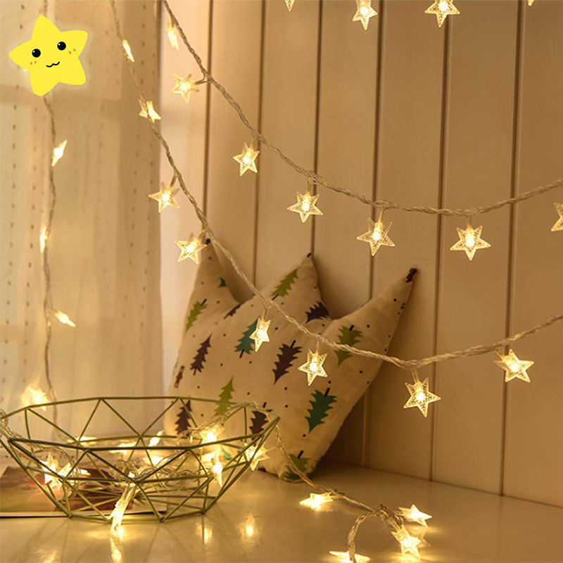 10M 20M 30M Star String Lights 110V/220V Christmas Tree Fairy Garlands Curtain Light Outdoor For Xmas Party New Year's Decor