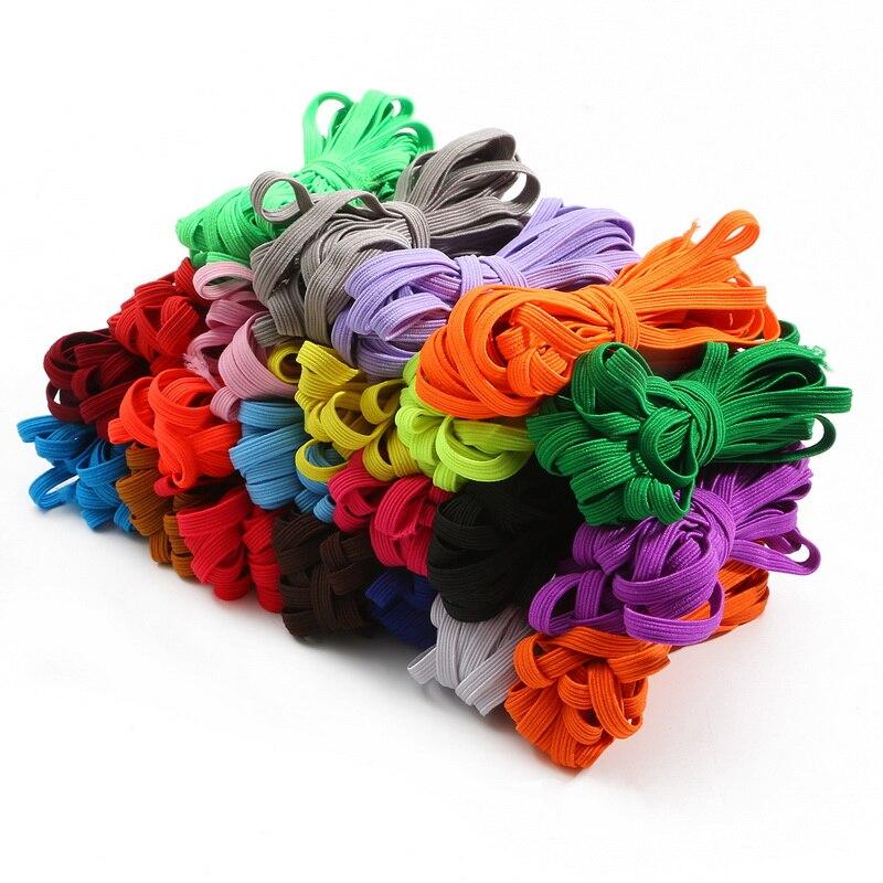 Новый 6 мм, полноцветное высоко-эластичными резинками канатная Резиновая лента линия спандекс лента швейная кружевная отделка пояс с плоск...