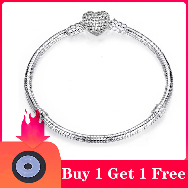 CHIELOYS High Quality Authentic Silver Color Snake Chain Fine Bracelet 1