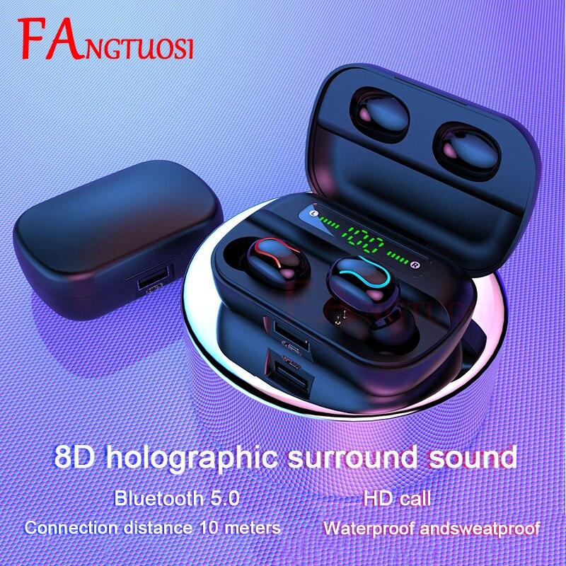 Новые HD беспроводные наушники TWS Bluetooth 5,0, беспроводные наушники Hi-Fi, мини наушники для занятий спортом, бега, Поддержка iOS/Android