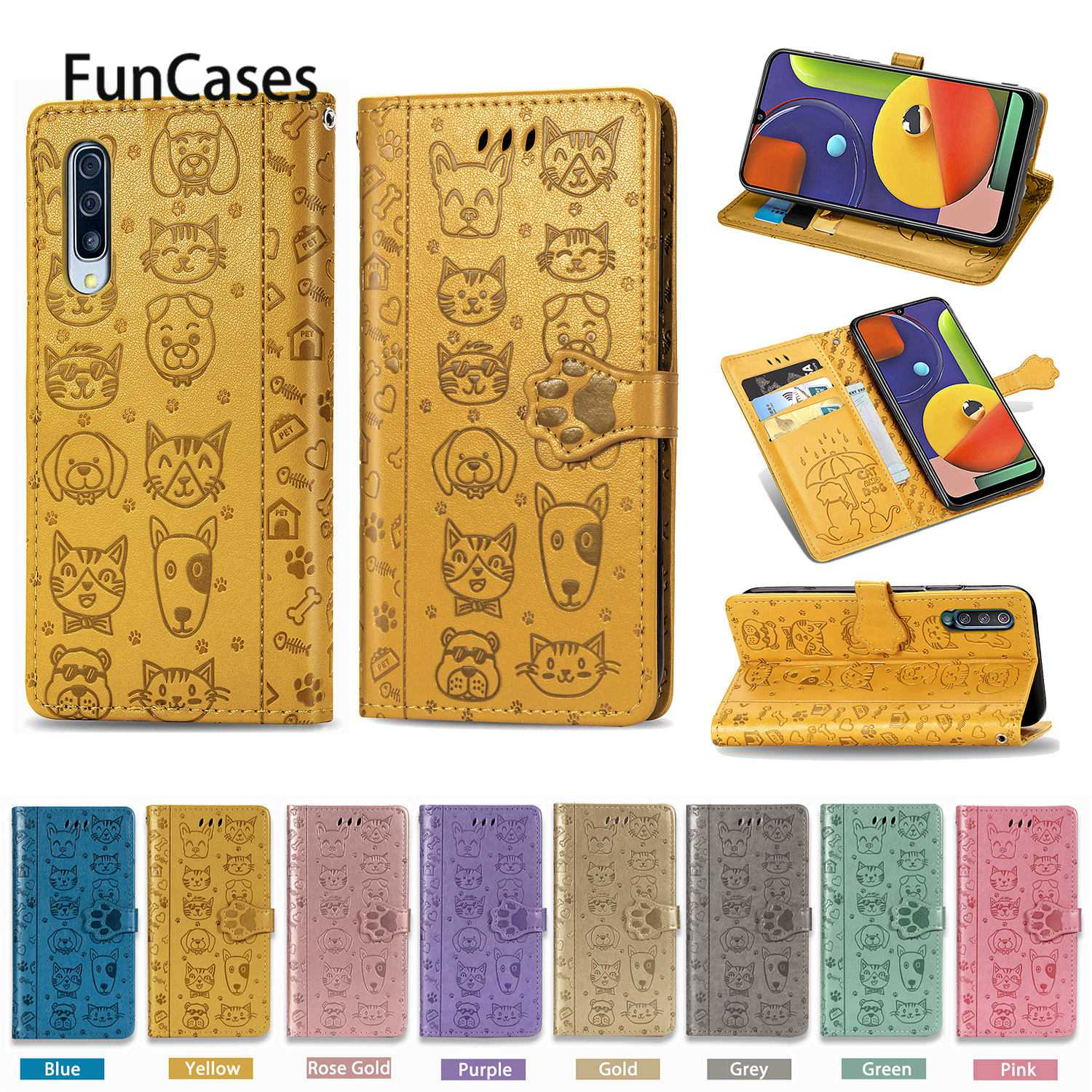 Lovely Mobile Phone Covers For telefoon <font><b>Samsung</b></font> A50S Flip Wallet Case Book Positivo <font><b>Samsung</b></font> Galaxy cellular A50 <font><b>A30S</b></font> A70S A20S image