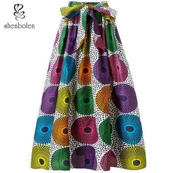 Spódnice damskie w stylu afrykańskim ankara z nadrukiem spódnica tradycyjny długa spódnica kostium kwiat wydruku na co dzień Dashiki spódnica spódnice damskie w stylu afrykańskim tanie i dobre opinie Shenbolen CN (pochodzenie) Poliester Skirt WOMEN Odzież afryka Tradycyjny odzieży J001 ankara print skirt african skirt