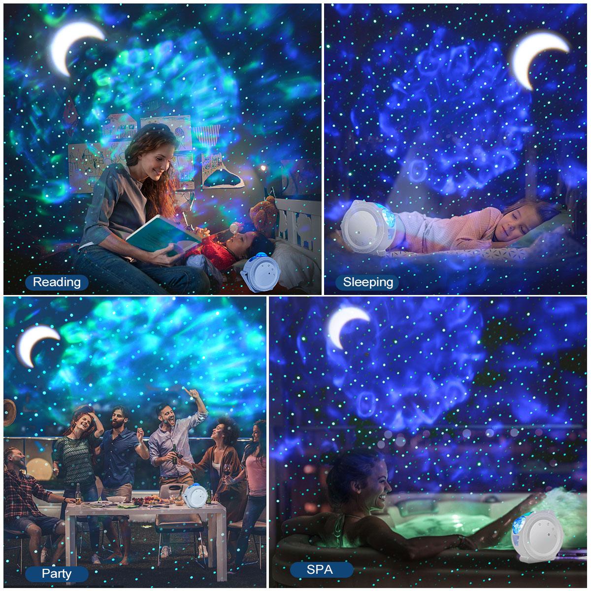 projetor led nebulosa nuvem noite luz de