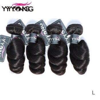 Productos para el cabello Yyong, extensiones de cabello brasileñas de onda suelta 3 o 4 ofertas de extensiones de cabello de 8-26 pulgadas, se puede colorear 100% cabello humano Remy tejido