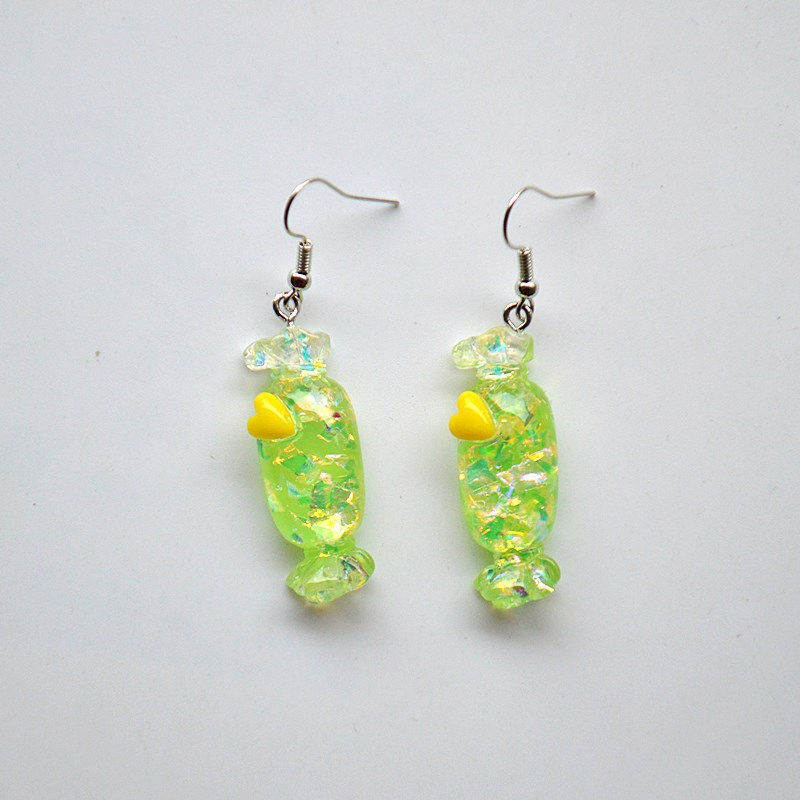 Lovely Colorful Transparent Candy Funny Drop Earrings For Women Girls Creative Fashion Mini Geometric Dangle Earrings Brincos