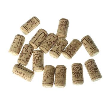 15 szt Korek do wina korek do wina korek do wina dąb korek do wina korek do butelki narzędzie barowe zamknięcie butelki drewniana pokrywa uszczelniająca tanie i dobre opinie CN (pochodzenie) Drewna Jednorazowe Ekologiczne A1482 Wina korki Ce ue 5 cm Bottle Cork 21*38mm Wood color Bar tool wine bottle stopper wine cork