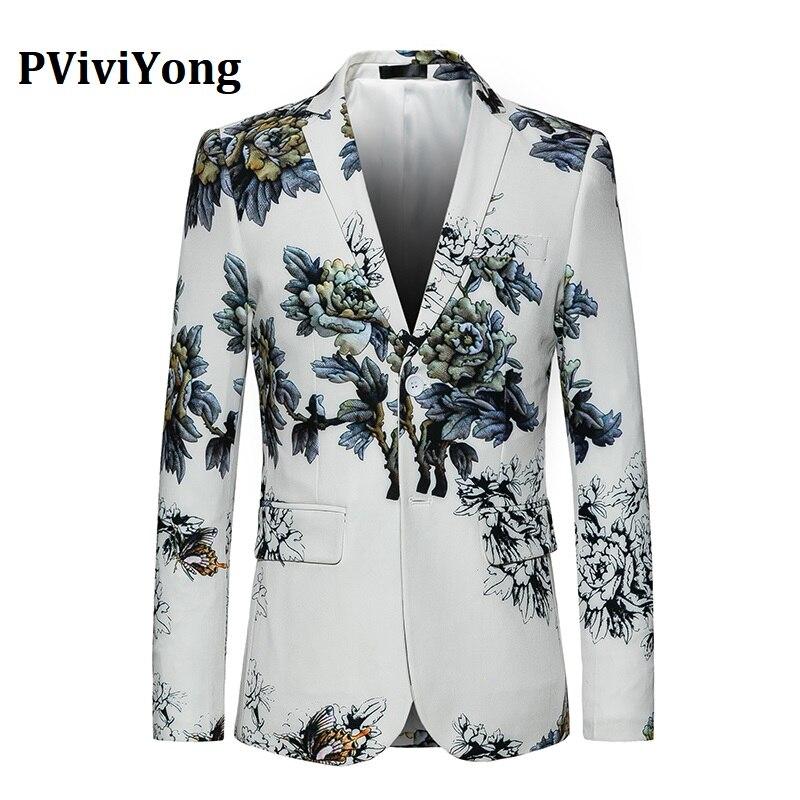 PViviYong Brand 2019 High Quality Men's Suit Top,Personality  Men Blazer Leisure Suit Men Slim Fit Suit Jacket  817