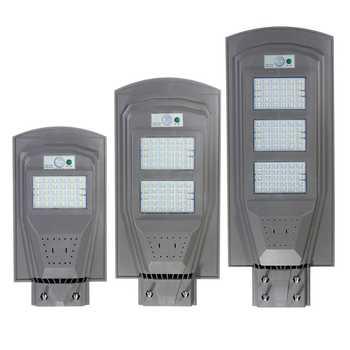 30 Вт 60 Вт 90 Вт Светодиодный уличный фонарь на солнечной батарее PIR датчик движения светодиодный наружный светильник ing сад настенный светиль...