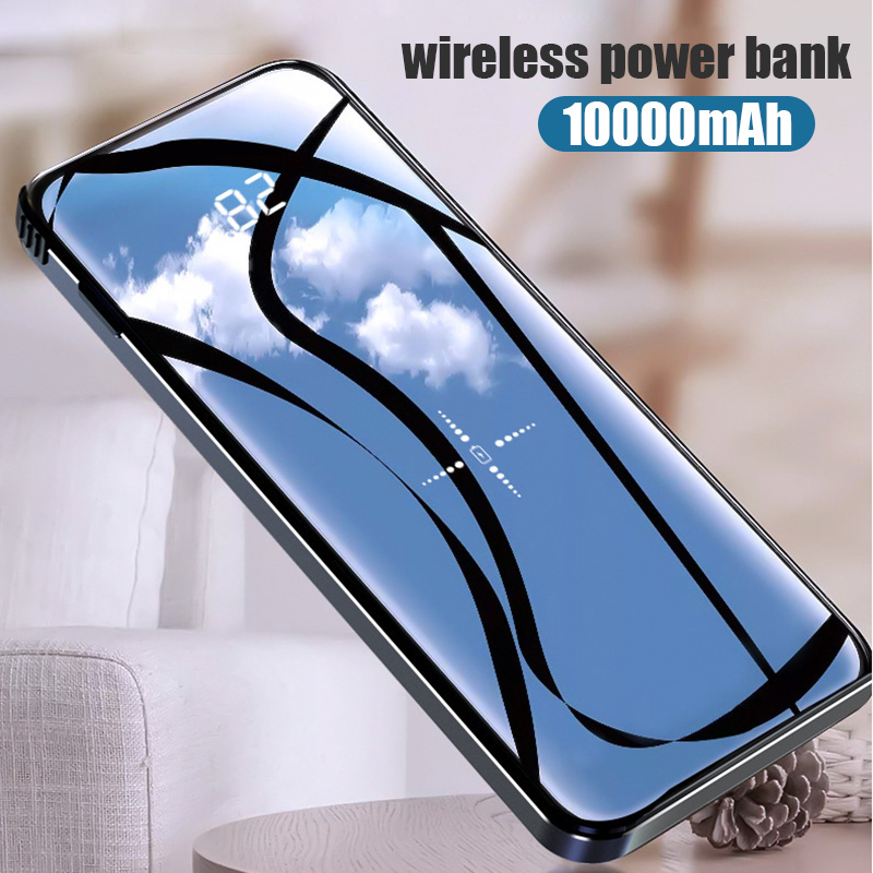 Wireless Power Bank 10000mAh Portable Charger Powerbank Charging for Smart Mobile Phone