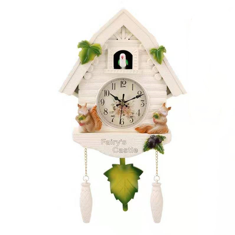 HOT-Cute Bird Wall Clock Cuckoo Alarm Clock Cuckoo Clock Living Room Watch Brief Children Bedroom Decor Home Day Time Alarm Cloc(China)