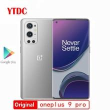 Orijinal yeni resmi Oneplus 9 Pro 5G Smartphone Snapdragon 888 6.7 inç sıvı AMOLED 120Hz 50MP + 48MP + 8MP + 2MP dörtlü kamera NFC