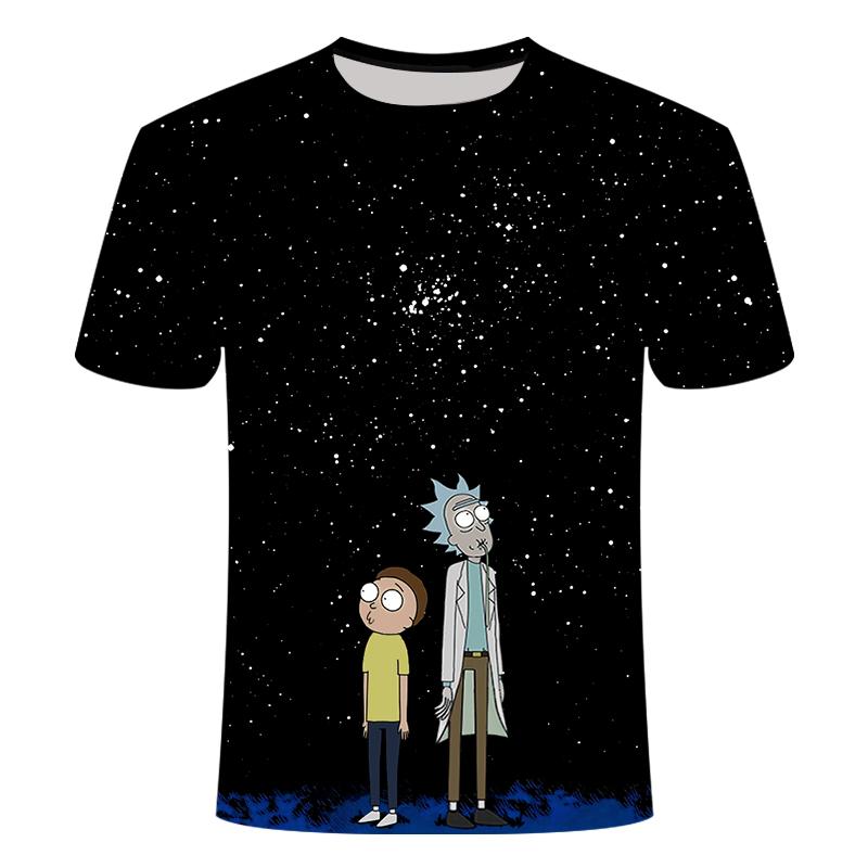 Rick And Morty T Shirt Men Anime Tshirt Chinese 3d Printed T-shirt Hip Hop Tee Cool Mens Clothing 2019 New Summer Top