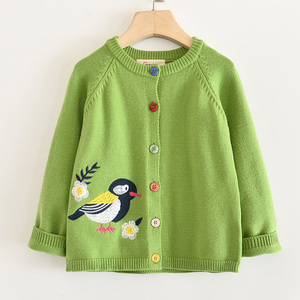 Image 2 - LOVE DD&MM Girls Coat 2020 New Childrens Clothing Girls Cute Bird Soft Long Sleeved Casual Button Knit Cardigan Coat