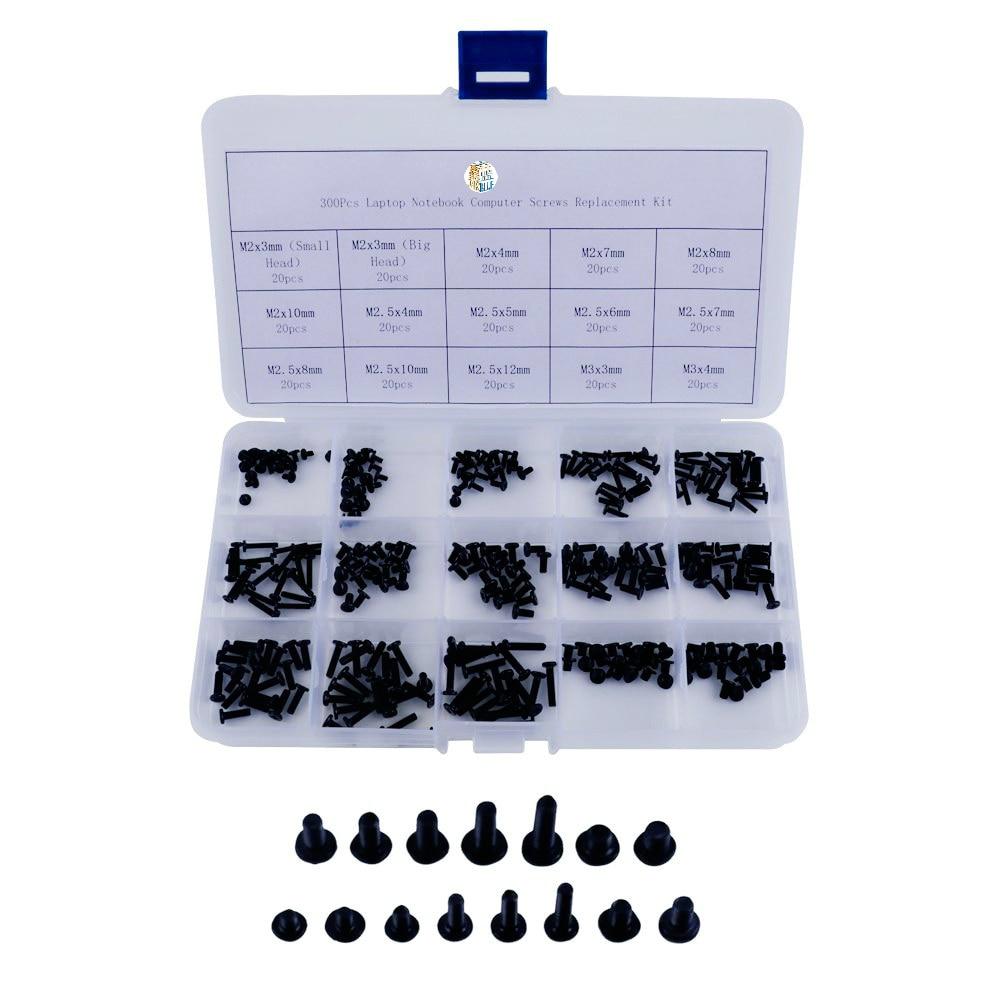 Винты для ноутбука, 300 шт., M2,M2.5,M3, комплект для замены винтов для ноутбуков Hp, Dell, Sony, Acer, Asus, Lenovo, Toshiba Gateway, Samsung