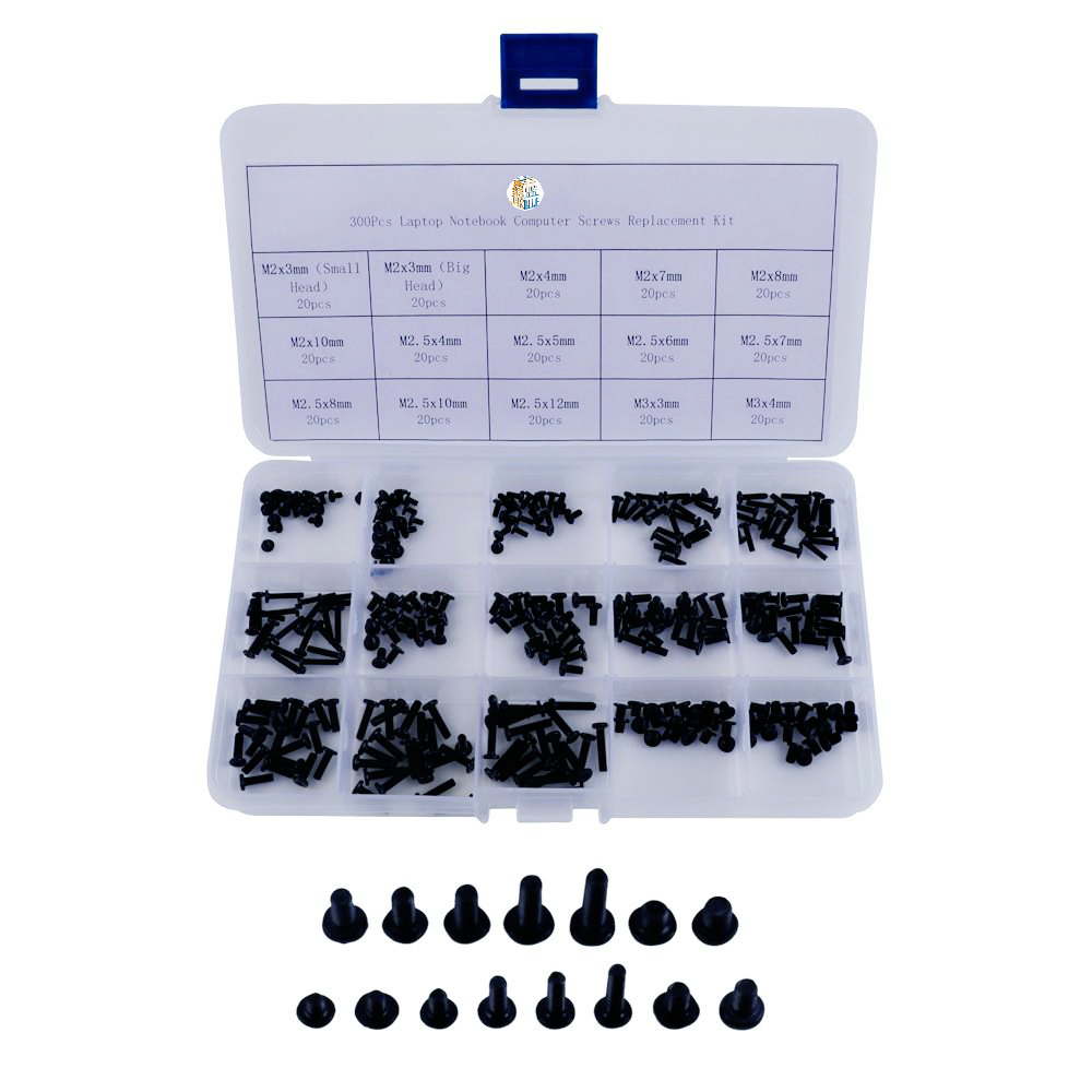300pcs M2,M2.5,M3 Laptop Notebook Computer Screws Replacement Kit For Hp Ibm Dell Sony Acer Asus Lenovo Toshiba Gateway Samsung