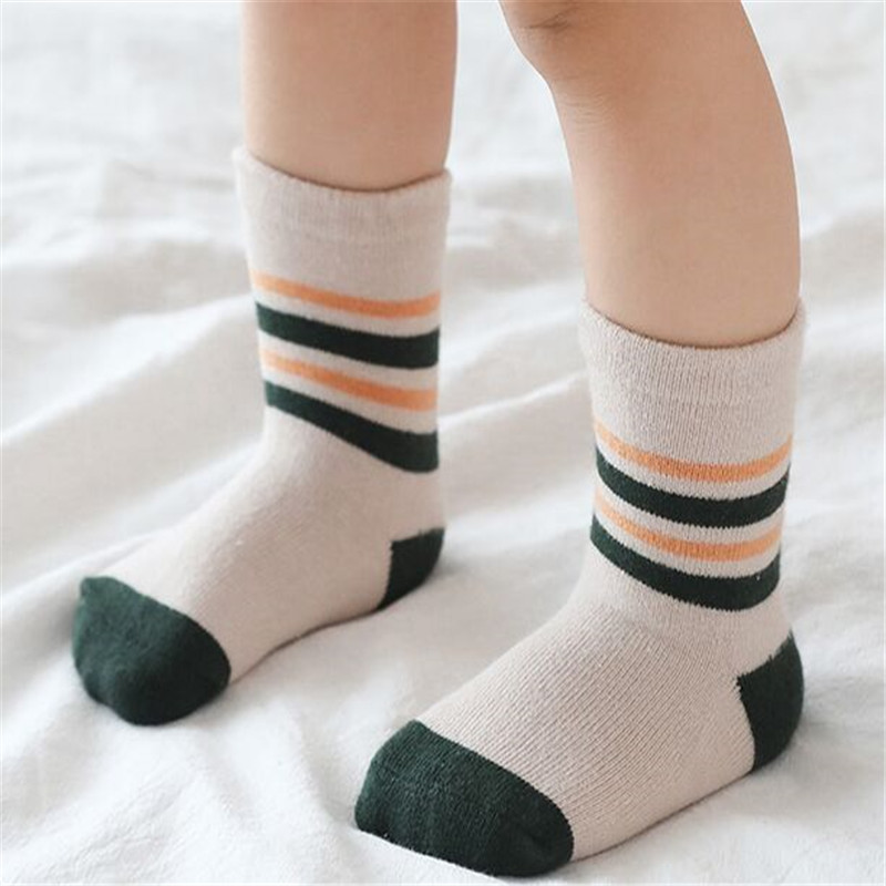 New 5Pairs/lot Infant Baby Socks Winter Autumn Baby Socks for Girls Cotton Newborn Baby Boy Socks Toddler Baby Boys Accessories