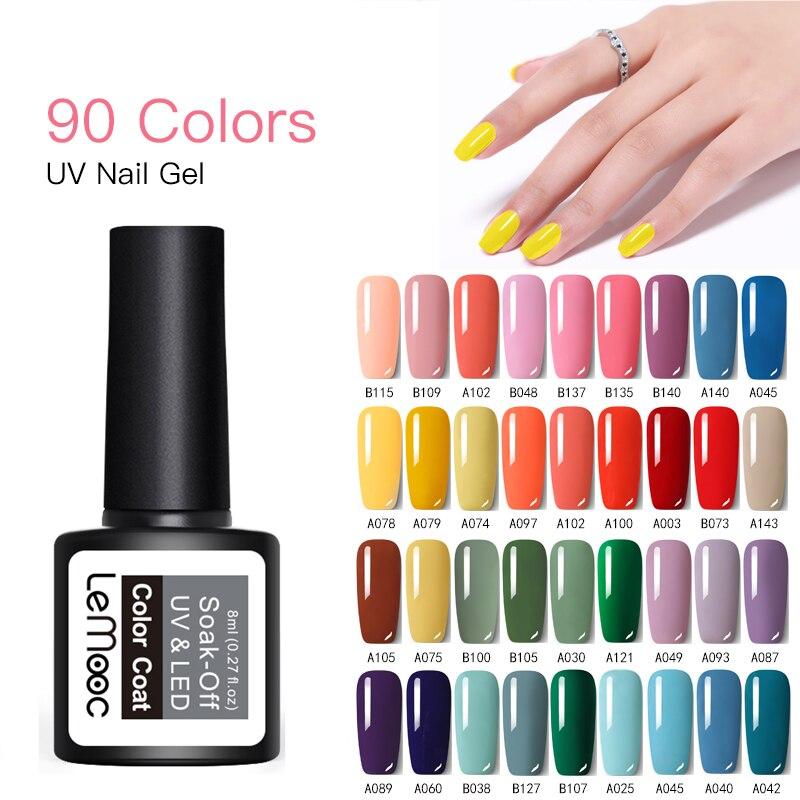 Gel Nail Polish Set Nails Soak Off Semi Permanent Top Base Coat UV Gel Varnish Nail Art Decoration 229 Colors Availab