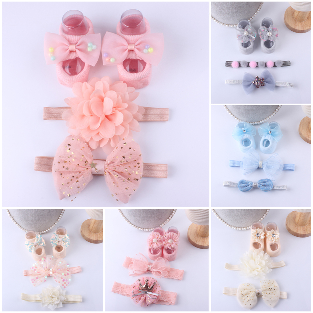 Kids Newborn Baby Cartoon Socks Anti-slip Sock Shoes Boots Floor Slipper Socks