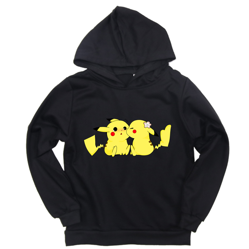 New Arrival Spring Autumn Kids Hoodies Pokemon Print Toddler Boys Girls Cartoon Sweatshirt Baby Casual Children Long Sleeve Tops image