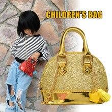 Hot Selling Trendy Kids Glitter Shoulder Bag Mini Grirls Crossbody Handbag Purse -B5 star detail glitter crossbody bag