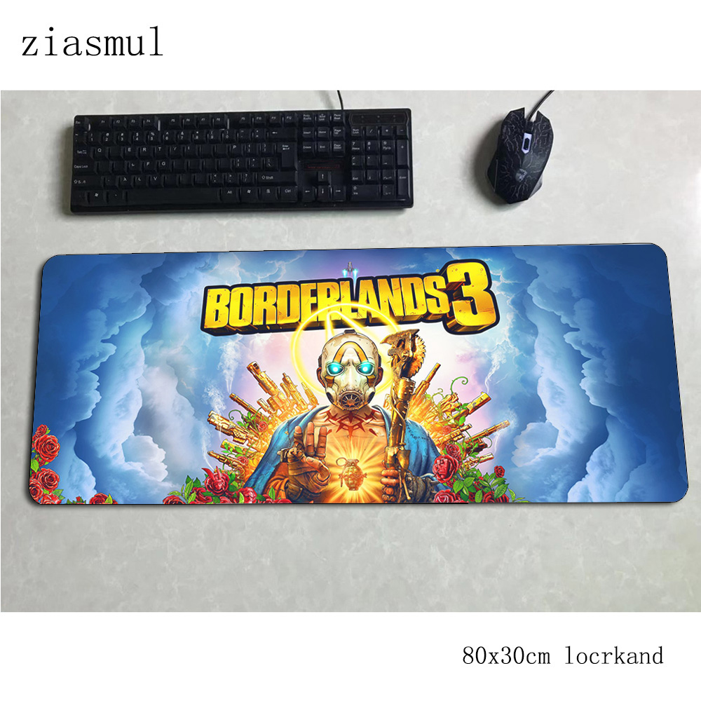 Borderlands Mousepad 800x300x3mm Gorgeous Computer Mouse Mat Gamer Gamepad Pc Cartoon Gaming Mousemat Desk Pad Office Padmouse