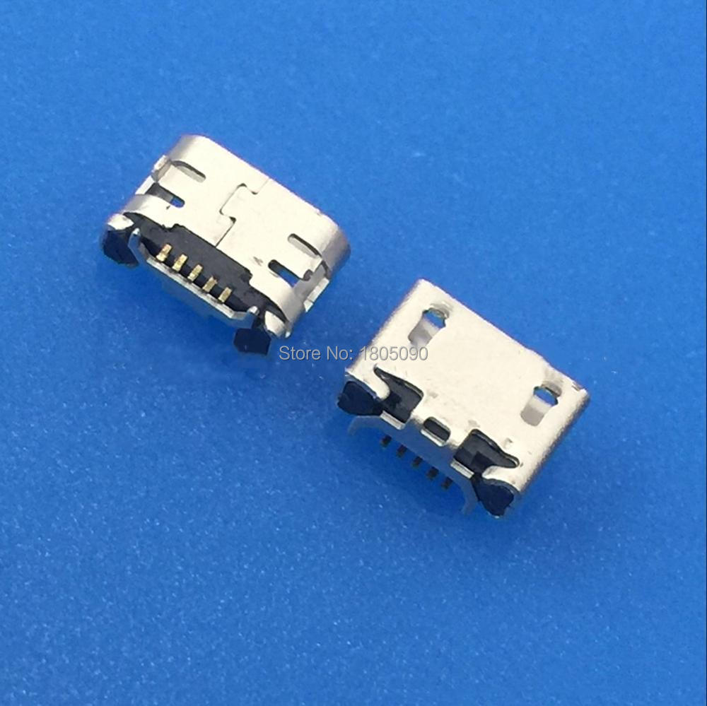 100pc Micro USB 5pin Jack Ox Horn Flat Edge 7.2*4.85mm Plate Female Socket Mini Connector For Sony VIV0 X1 X3 Charging Tail Plug