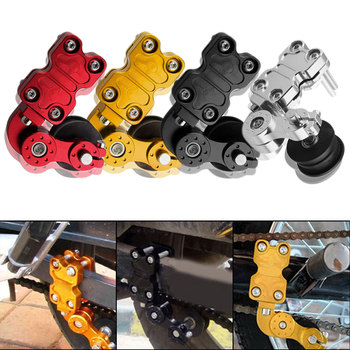 New Universal Portable Aluminum Adjuster Chain Tensioner Roller 4 Colors Motorcycle Modified Accessories цена 2017