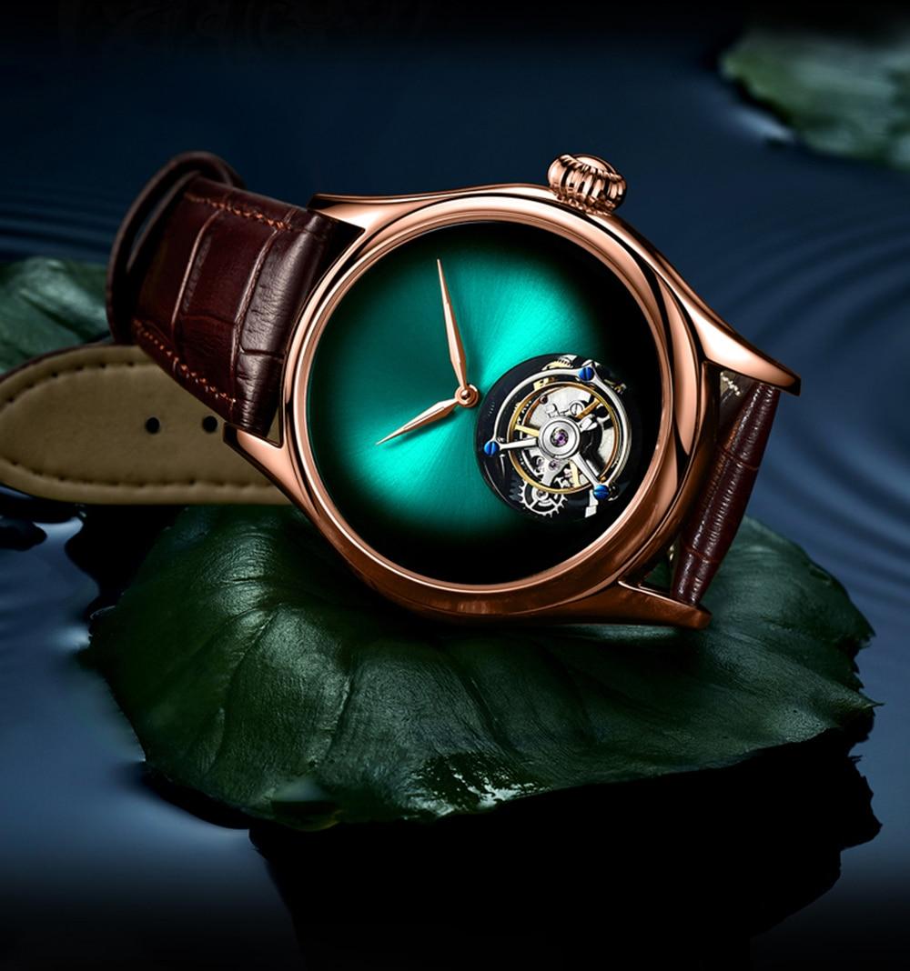 Guanqin 2019 relógio de luxo tourbillon relógios