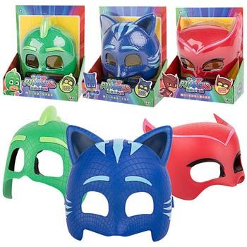 Pj maska model lalki maski trzy różne kolor maski Catboy Owlette Gekko figurki Anime odkryty śmieszne dzieci zabawki dla dzieci S57 tanie i dobre opinie PJ Masks Z tworzywa sztucznego no fire Perceptivity rozwoju (kolor kształt dźwięk vision) 16*19cm Unisex 3 lat Piłka nożna