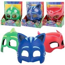 Pj maska model lalki maski trzy różne kolory maski Catboy Owlette Gekko figurki Anime na zewnątrz śmieszne dzieci dzieci gorące zabawki tanie tanio PJ Masks Z tworzywa sztucznego no fire Perceptivity rozwoju (kolor kształt dźwięk vision) 16*19cm Other 3 lat Piłka nożna