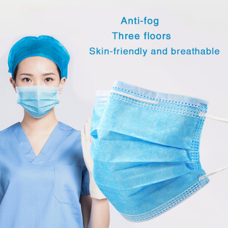 10/20/30/50PCS 3-layer Disposable Anti-fog Face Mask Nonwoven Anti-pollution Particle Soft Breathable Masks NEW