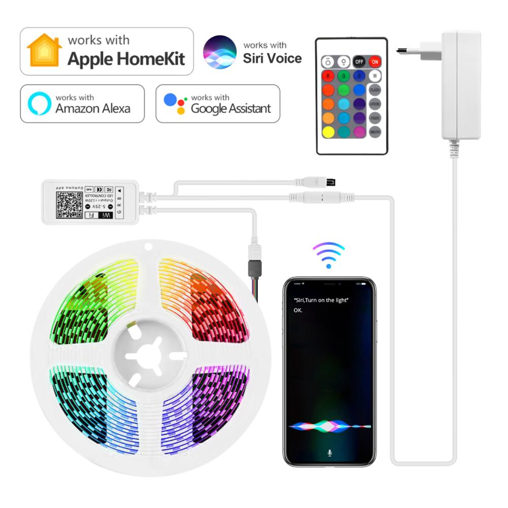 Apple Homekit Smart WiFi LED Strip light RGB Siri Voice Control LED Lights Neon lamp Work Apple Home kit/Alexa/Google Assistant|LED Strips| - AliExpress
