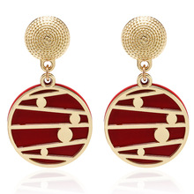 Vintage Style Womens Earrings Metal Leather Hollow Creative Geometric Elements Western Long For Winter Jewelry New