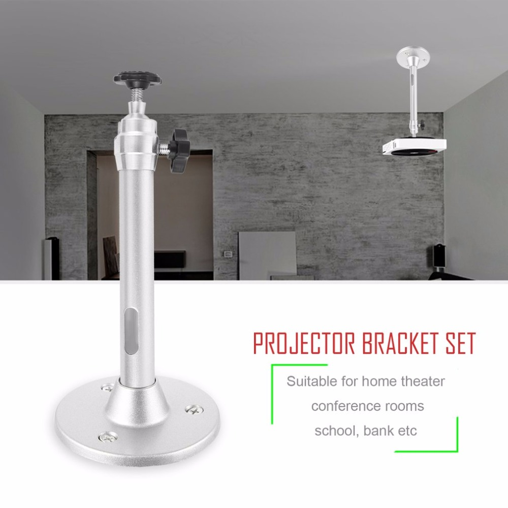 Universal Mini Aluminium Alloy 360 Degree Rotation LCD DLP Projector Ceiling Wall Mount Metal Bracket Holder Stand