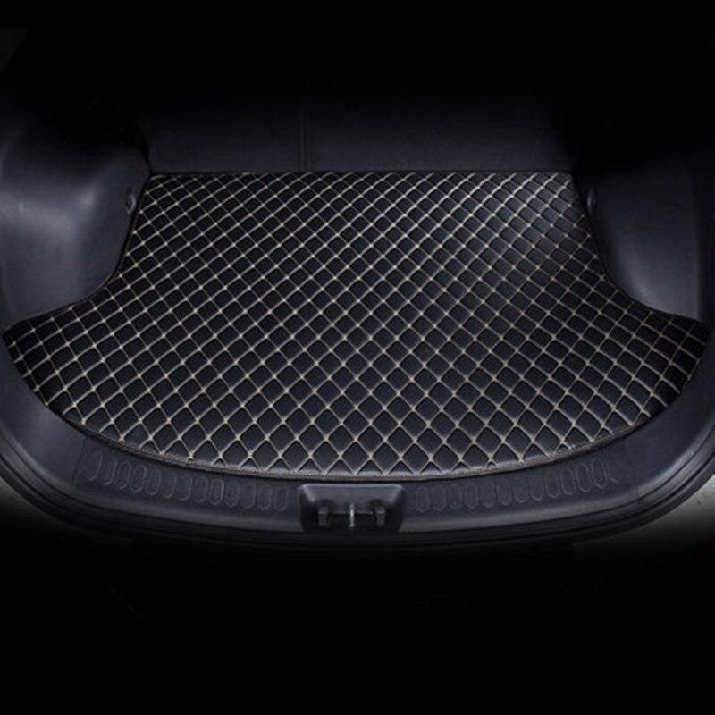 Custom Car Trunk Mat For Jaguar XF XE XJL XJ6 XJ6L E-PACE F-PACE F-TYPE Brand Firm Soft Car Accessories Floor Mats For Cars