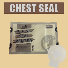 Chest Seal Quick Useful Chest Wound Emergency Occlusive Dressing Bandage First Aid Kit Accessories With Vent