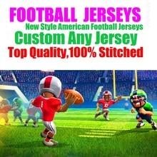 30 на заказ, игровые майки, американские футбольные майки, дешевые, Аутентичные, спортивные, студенческие, Цвет команды, мужские, женские, молодежные, Детские 4XL